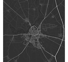 Larissa, Greece Map. (White on black) Photographic Print