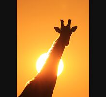 Giraffe Silhouette - Golden Sunset African Wildlife T-Shirt