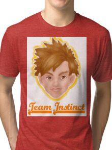 Spark Team Instinct Pokemon Go Tri-blend T-Shirt