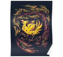 Chocobo with Blossoms Poster
