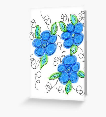 Invigorating Blues Greeting Card