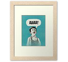 AAAA! (Blue) Framed Print