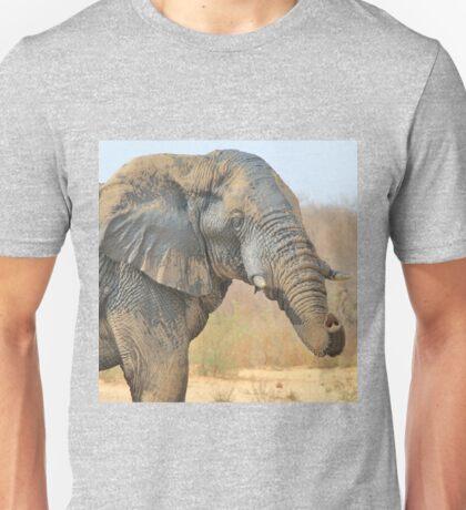 Elephant Bull - Beautiful Mud - African Wildlife Unisex T-Shirt