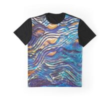 Abstract blue waves Graphic T-Shirt