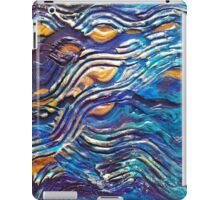 Abstract blue waves iPad Case/Skin
