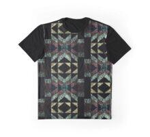 """Ausgewaschenes """"Tribal"""" Muster Graphic T-Shirt"""