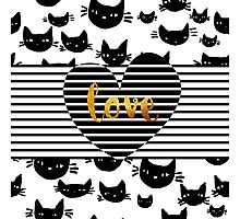 Cats love Photographic Print