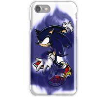 Dark Sonic (White Background) iPhone Case/Skin