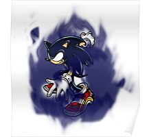 Dark Sonic (White Background) Poster