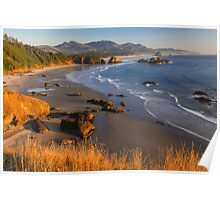 Crescent Beach At Sunset Poster
