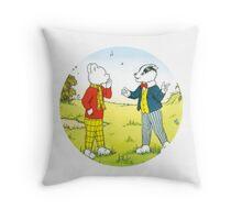 Rupert Bear Bill Badger Throw Pillow