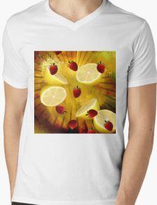 STRAWBERRY LEMONADE Mens V-Neck T-Shirt