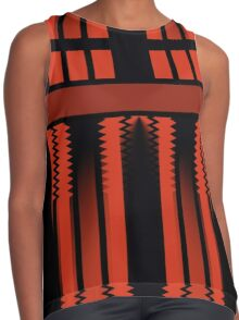 Red Lines Of Glamour  Contrast Tank