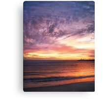 Sunset at Bathers' Beach, Fremantle, W.A. Canvas Print