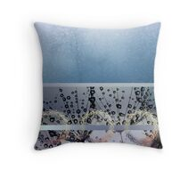 Dandelions and Dewdrops Throw Pillow