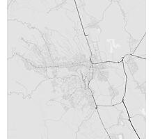Miskolc, Hungary Map. (Black on white) Photographic Print
