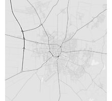 Debrecen, Hungary Map. (Black on white) Photographic Print