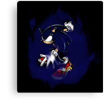 Dark Sonic (Black Background) Canvas Print