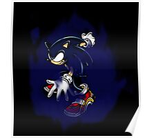 Dark Sonic (Black Background) Poster