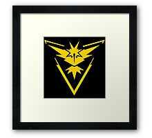 Team Instinct Pokemon Go Framed Print