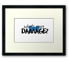 What's Your Damage? (Blue Bow) Framed Print