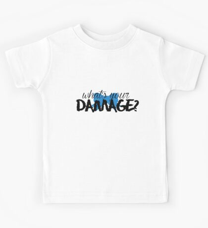 What's Your Damage? (Blue Bow) Kids Tee