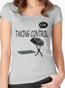 Taking Ctrl Women's Fitted Scoop T-Shirt