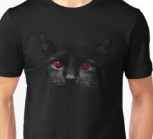 Black Cat Red Eyes Unisex T-Shirt