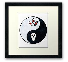 soul eater- yin yang Framed Print