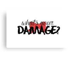 What's Your Damage? (Red Bow) Canvas Print