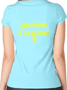 Machismo e fascismo Women's Fitted Scoop T-Shirt