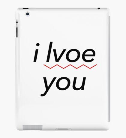 i lvoe you iPad Case/Skin