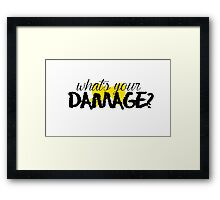 What's Your Damage? (Yellow Bow) Framed Print