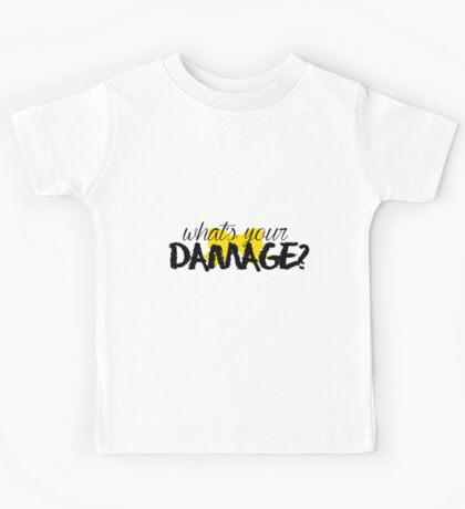 What's Your Damage? (Yellow Bow) Kids Tee