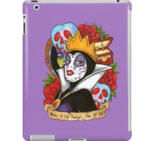 Evil Queen Snow White Disney Day Of The Dead purple background iPad Case/Skin