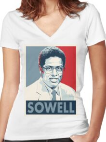 Thomas Sowell Women's Fitted V-Neck T-Shirt