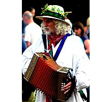 The Accordian Player Photographic Print
