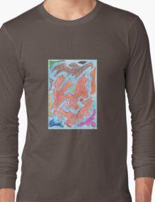 0301 - Bunte Inseln Flowing in the Ocean Long Sleeve T-Shirt