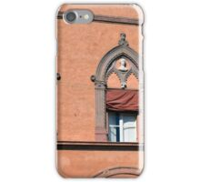 Building facade from Bologna with red brick and decorative windows iPhone Case/Skin