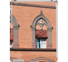 Building facade from Bologna with red brick and decorative windows iPad Case/Skin