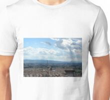 Rooftop from Assisi and view of the landscape. Unisex T-Shirt