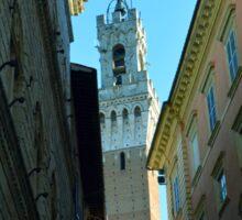 Tower of Siena seen from narrow street Sticker