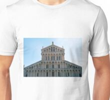 Facade of church from Pisa with many marble columns Unisex T-Shirt