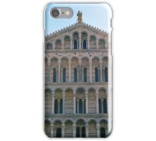 Facade of church from Pisa with many marble columns iPhone Case/Skin