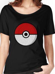 Pokéball with Pokémon Theme Lyrics Women's Relaxed Fit T-Shirt