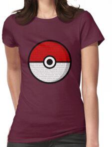 Pokéball with Pokémon Theme Lyrics Womens Fitted T-Shirt