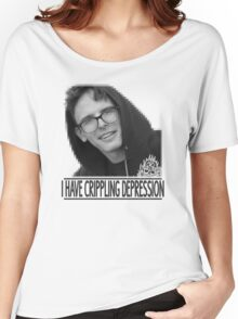 I Have Crippling Depression - IDubbbzTV Women's Relaxed Fit T-Shirt