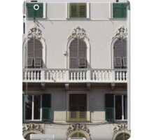 Classical facade from Genova with detailed decoration ornaments iPad Case/Skin