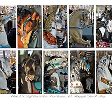 Crescent Park Looff Carousel Ponies by Diane E. Berry
