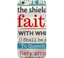 Put on the whole armour of God, Bible Verse / quotation iPhone Case/Skin